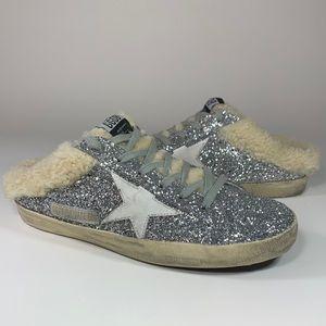 Golden Goose Superstar Sabot Glitter Slide Sneaker